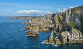 Scenic sight at Mizen Head, Kilmore Peninsula in County Cork, Ireland. Mizen Head, is located at the extremity of the Kilmore Peninsula in the district of Royalty Free Stock Image