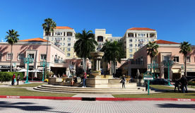 Mizner Park. Is located in in downtown Boca Raton, Florida.It includes restaurants, apartments,offices,shops,amphitheater and the Royalty Free Stock Photos