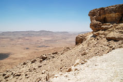 Mizpe-Ramon Cliff. View of the big cliff at Ramon canyon. Israel Stock Images