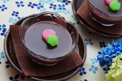 Mizu Yokan, Japanese dessert Royalty Free Stock Image