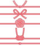Mizuhiki: декоративный японский шнур сделанный от переплетенной бумаги Стоковое фото RF