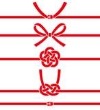 Mizuhiki : corde japonaise décorative faite à partir du papier tordu Illustration Stock