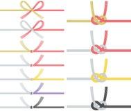 Mizuhiki : corde japonaise décorative faite à partir du papier tordu Illustration de Vecteur