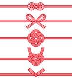 Mizuhiki: decoratief Japans die koord van verdraaid document wordt gemaakt stock illustratie