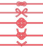 Mizuhiki : decorative Japanese cord made from twisted paper. Stock Image