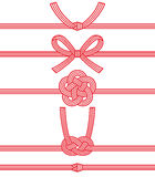 Mizuhiki : decorative Japanese cord made from twisted paper. Paper strings stock illustration