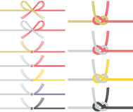 Mizuhiki : decorative Japanese cord made from twisted paper. Royalty Free Stock Image