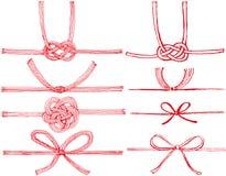 Mizuhiki: Japońscy dekoracyjni sznurki robić od kręconego papieru Zdjęcia Stock