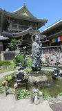Mizuku Kanon på den Zenko jitemplet i Nagano Arkivfoto