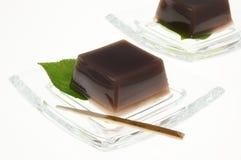 Mizuyoukan. Japanese sweet jellied bean paste Stock Photography
