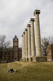 Mizzou Columns and Engineering School Royalty Free Stock Photos