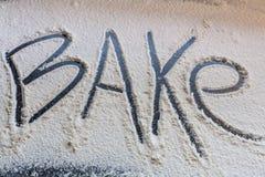 Mjöl för bakning Arkivfoton