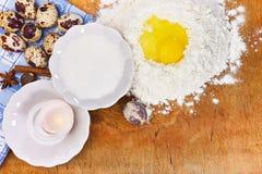 Mjöl och ägg Royaltyfria Bilder