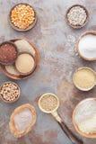 Mjöl och korn Royaltyfri Fotografi