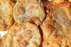mjöl stekt runt socker rostar vete royaltyfria foton