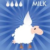 Mjölka royaltyfri illustrationer
