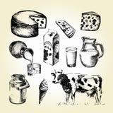 Mjölka attraktion stock illustrationer