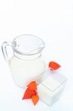 Mjölka av exponeringsglas Fotografering för Bildbyråer