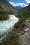 mjölka bergfloden Arkivfoton