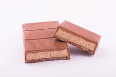Mjölka choklad med marsipan Royaltyfri Bild