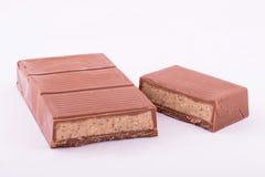 Mjölka choklad med marsipan Royaltyfria Foton