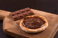 Mjölka choklad Sfiha Arkivbild