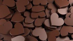Mjölka chokladhjärtor Fotografering för Bildbyråer