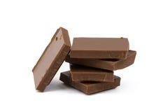 Mjölka chokladstycken Arkivbild