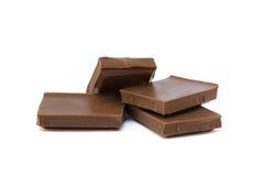 Mjölka chokladstycken Arkivbilder