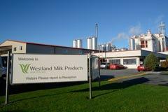 Mjölka fabriken Arkivbild