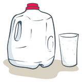 Mjölka gal.et stock illustrationer