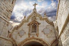 Mjölka Grottokyrkan i Bethlehem, Palestina fotografering för bildbyråer