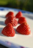 mjölka jordgubbar Royaltyfri Bild