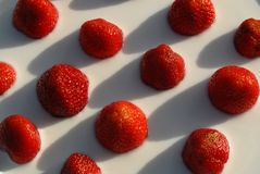 mjölka jordgubbar Royaltyfria Foton