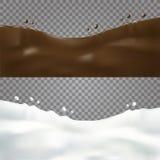 Mjölka och shocolatevågen Royaltyfri Fotografi