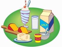 mjölka produkter Arkivbild