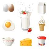 mjölka produkter Arkivfoto