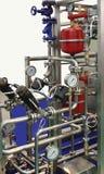 mjölka produktionteknologi royaltyfri foto