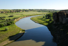 mjölka River Valley arkivbilder