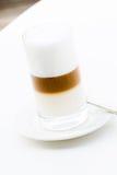 Mjölka skumcappuccino arkivfoto