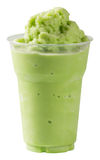 Mjölka smoothien för grönt te Royaltyfria Bilder