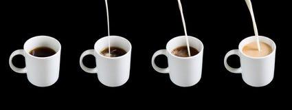 mjölka tea Royaltyfri Foto