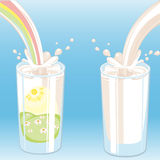 mjölka vektoren Arkivbilder