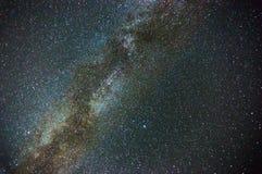 Mjölkaktig väg i natthimmel Arkivfoton