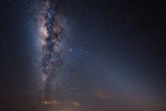 Mjölkaktig väg på himlen Fotografering för Bildbyråer