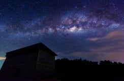 Mjölkaktig väg på himlen Arkivbilder