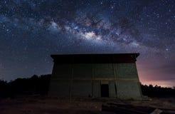 Mjölkaktig väg på himlen Arkivfoto