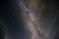Mjölkaktig väg på natthimmel Arkivbilder