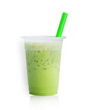Is mjölkar grönt te Arkivfoton