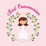 Mój pierwszy communion projekt Obraz Royalty Free